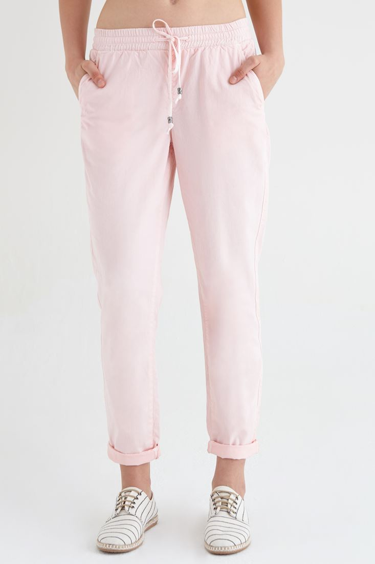 Pink Rubbered Pants