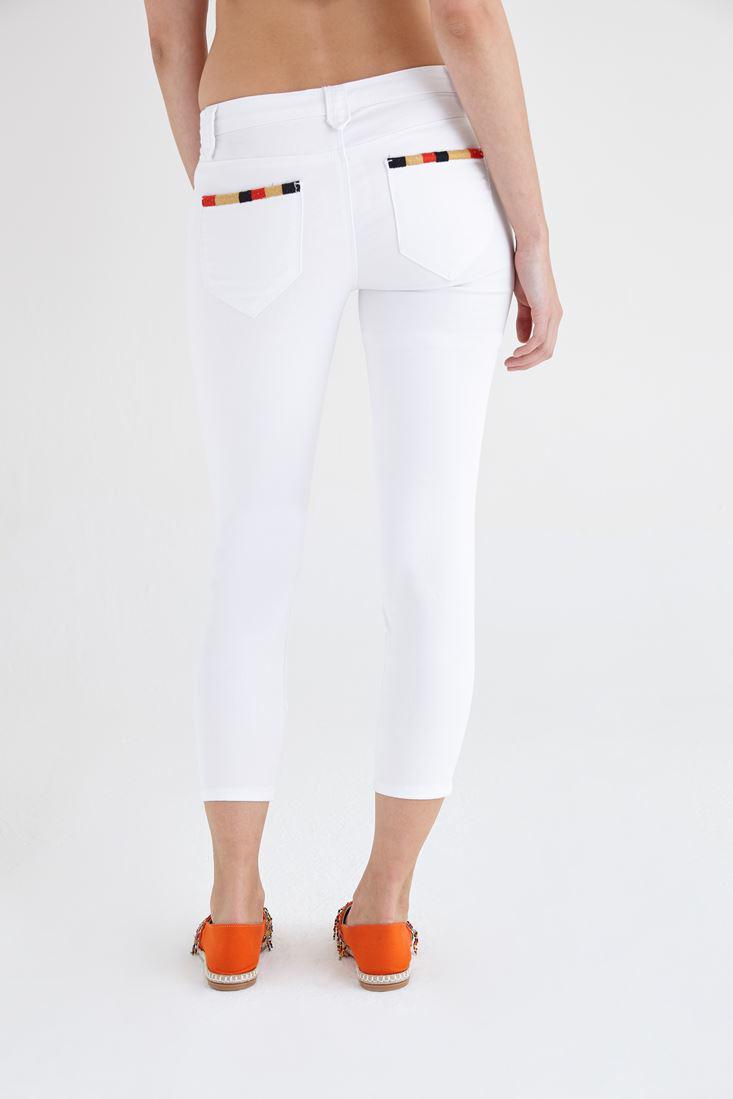 Women White Low Waist Skinny Pant
