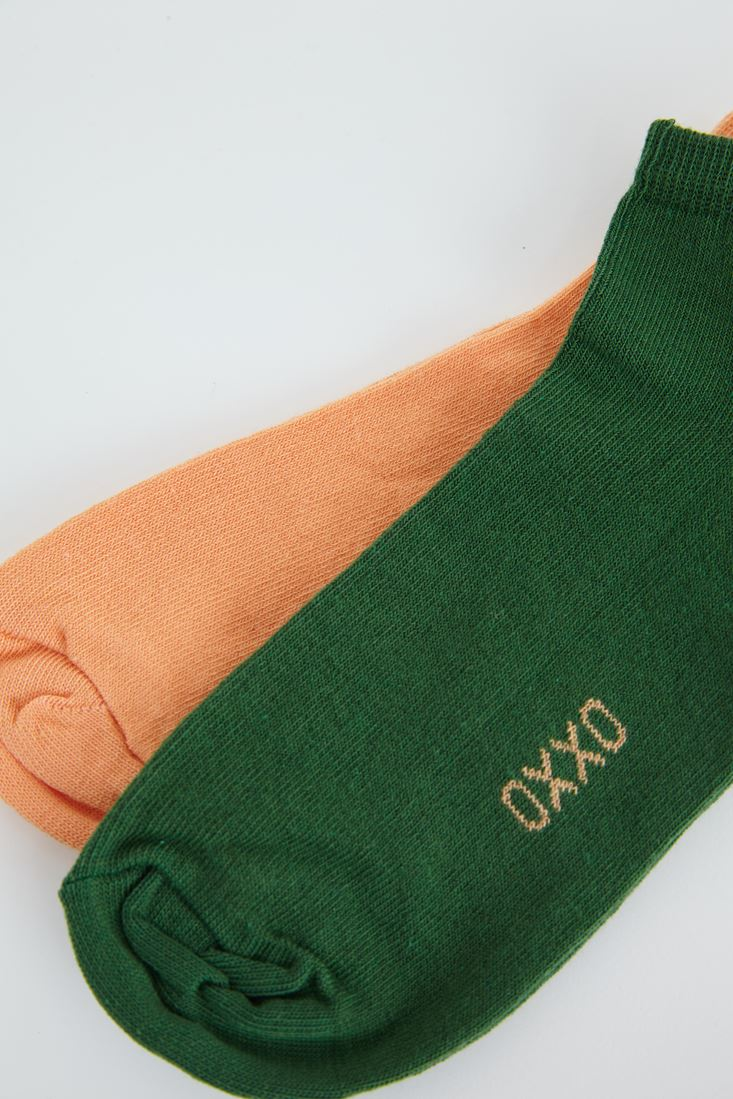 Bayan Turuncu Spor Ayakkabı Çorabı