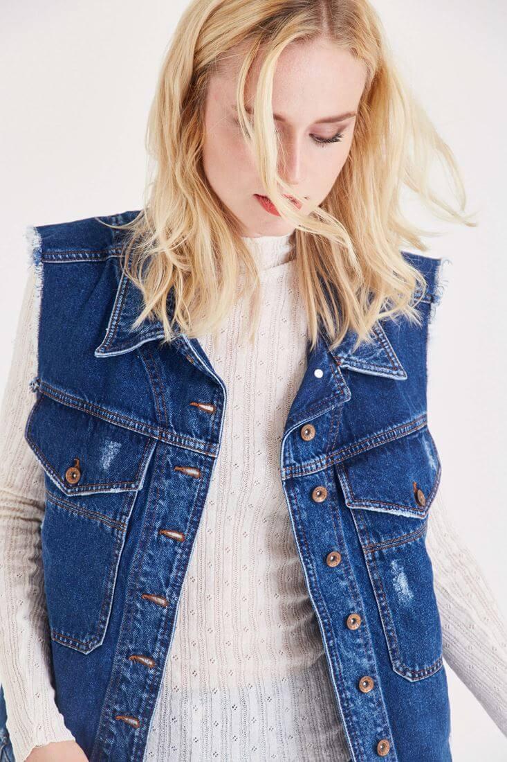 Blue Denim Waistcoat