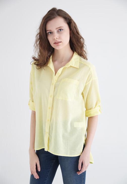 Sarı Pamuk Gömlek