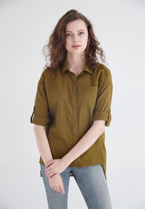 Yeşil Pamuk Gömlek