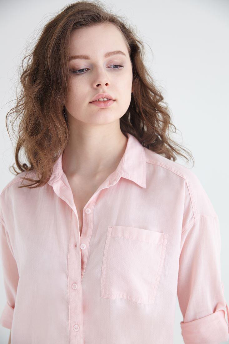 Bayan Pembe Pamuk Gömlek