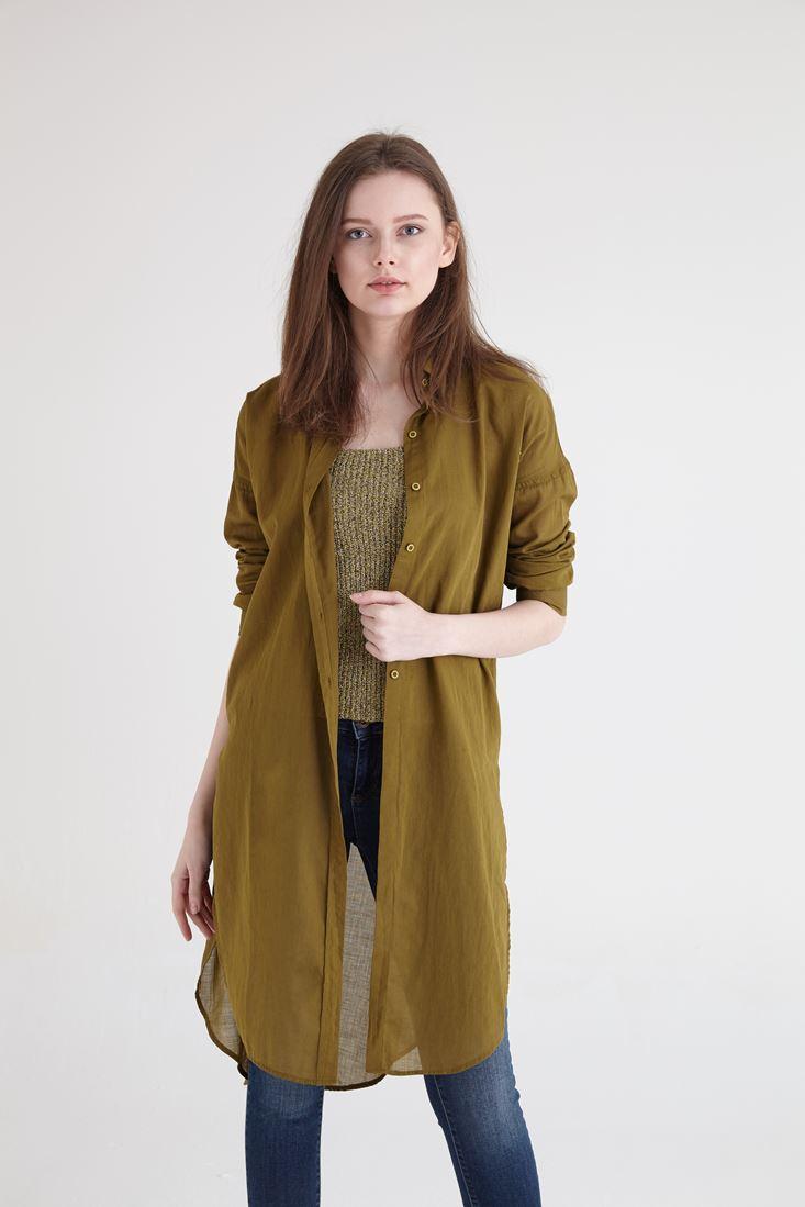 Yeşil Uzun Gömlek