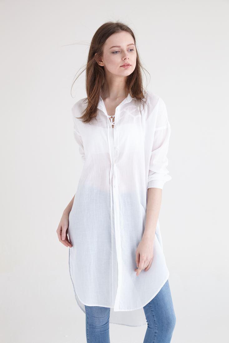 Beyaz Uzun Gömlek