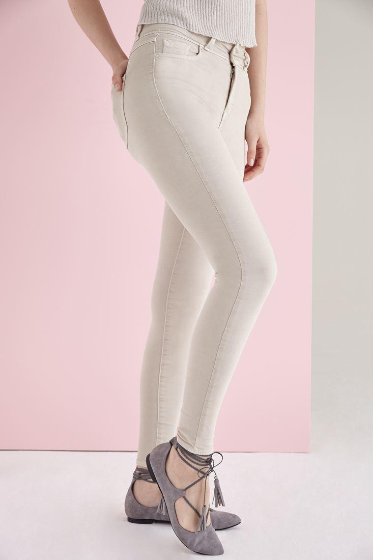 Cream High Rise Skinny Pants