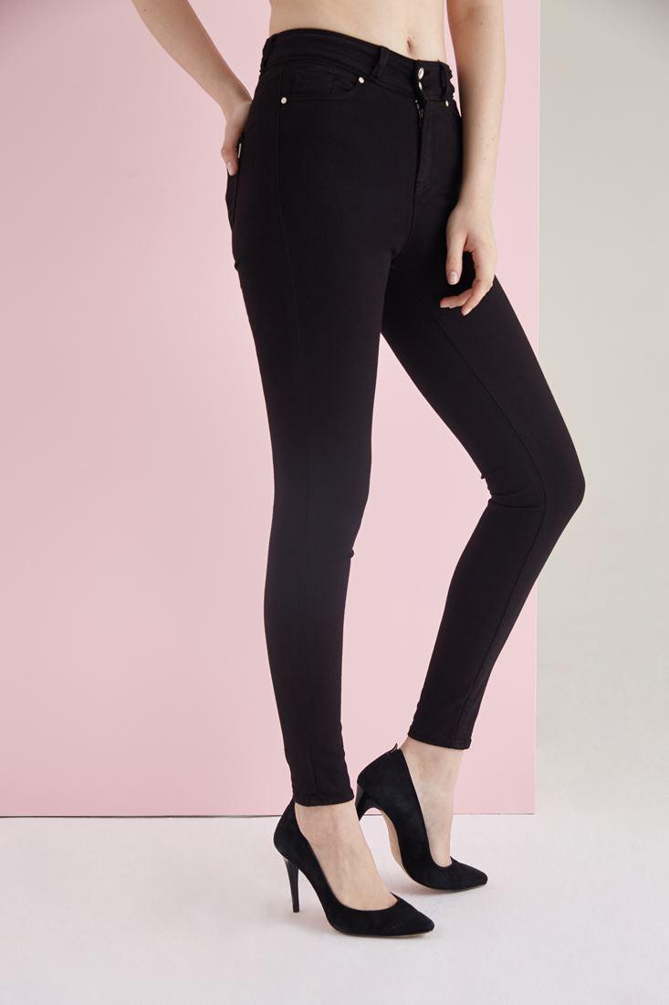Black High Rise Skinny Pants