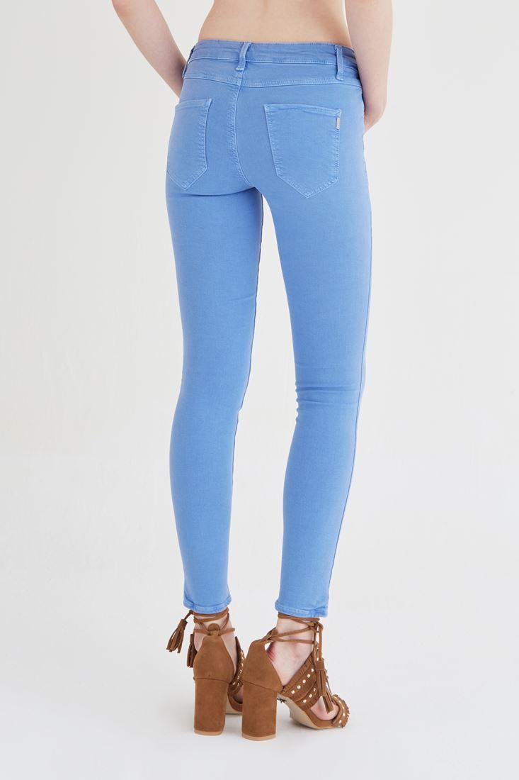 Bayan Mavi Düşük Bel Pantolon