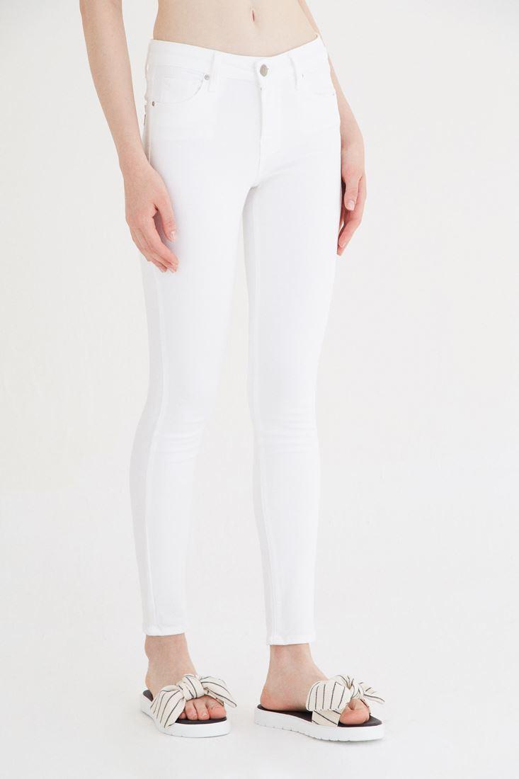 Beyaz Düşük Bel Pantolon