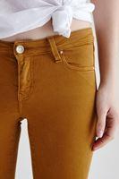 Bayan Turuncu Düşük Bel Dar Paça Esnek Pantolon