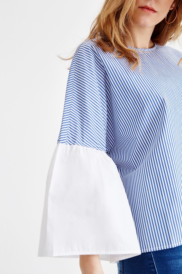 Navy Stripped Blouse