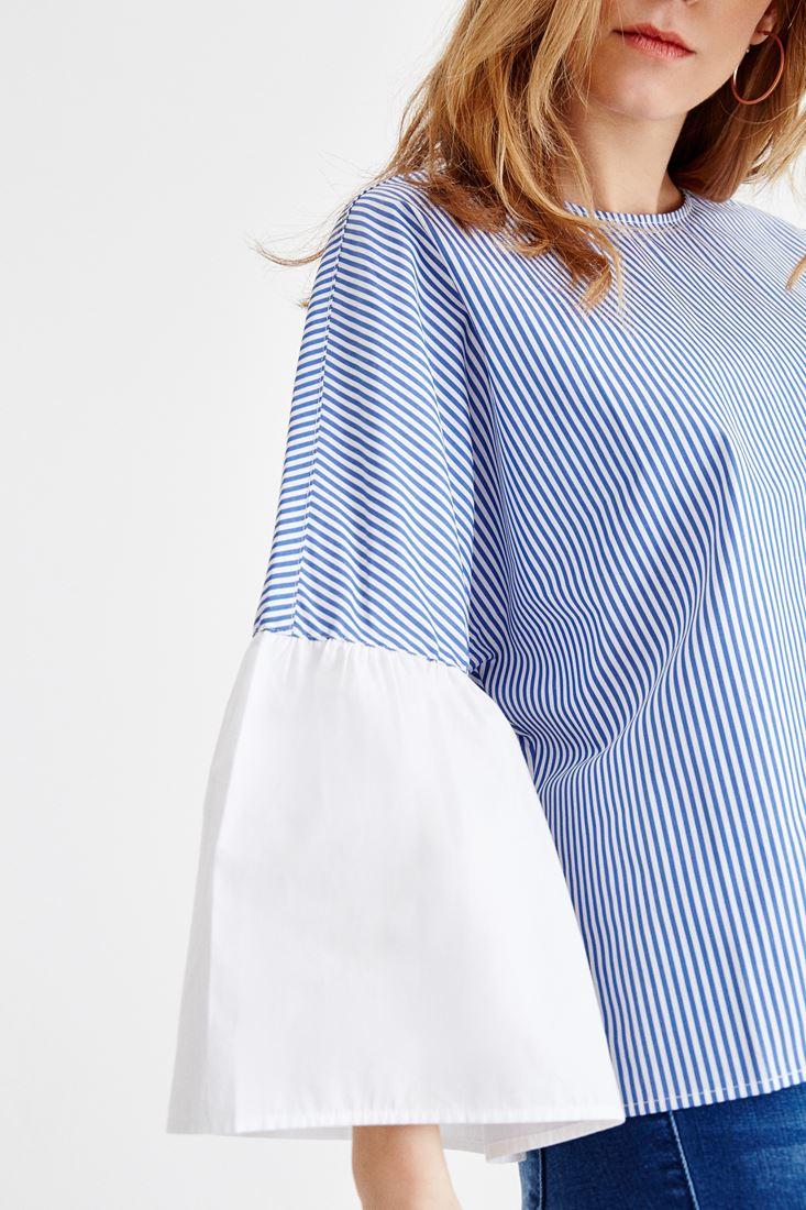 Çok Renkli Çizgili Bluz