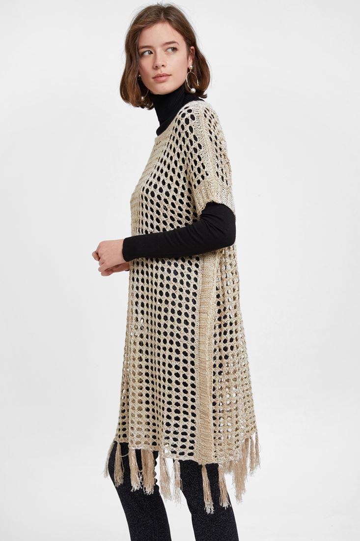 Cream Knitwear with Tassel