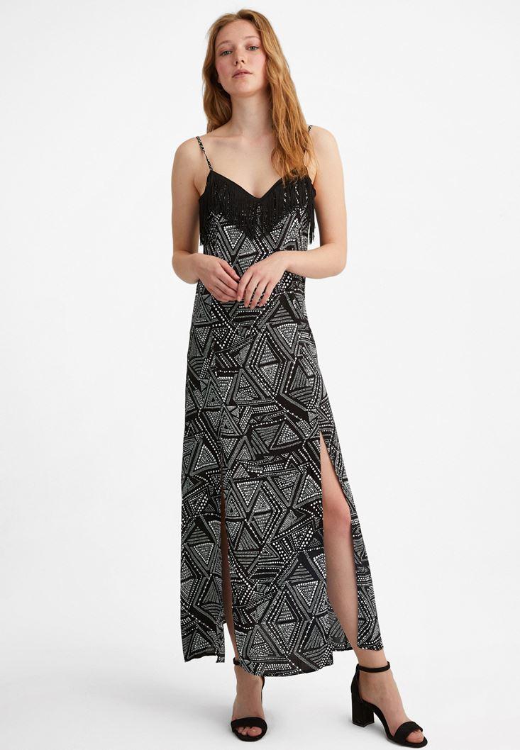 Mixed Patterned Maxi Dress