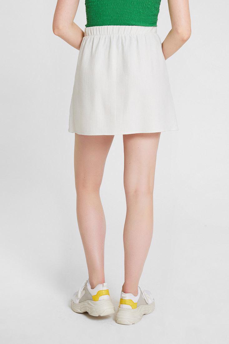 Women Cream Short Skirt