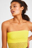 Women Yellow Tank Top with Details