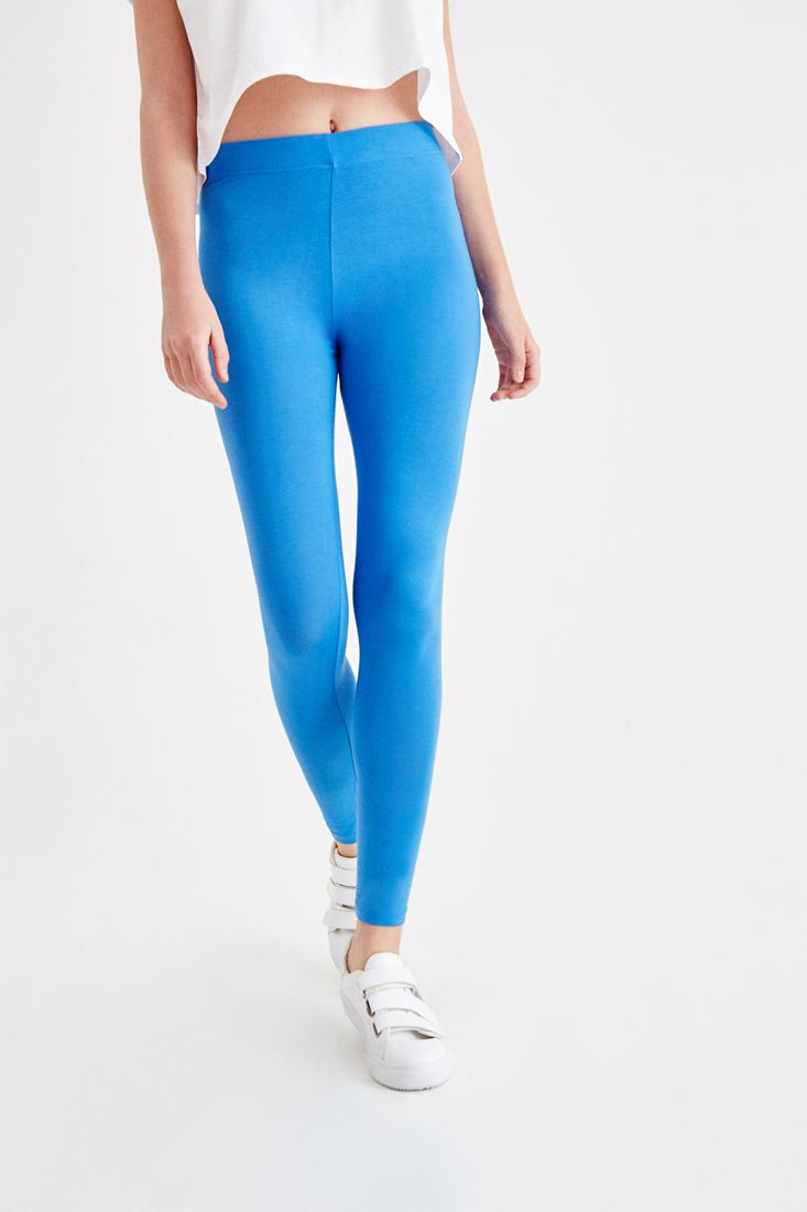 Blue High Rise Jeggings