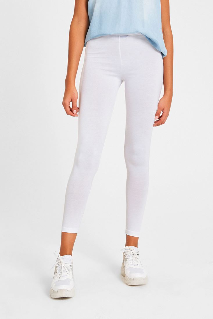 White High Rise Jeggings
