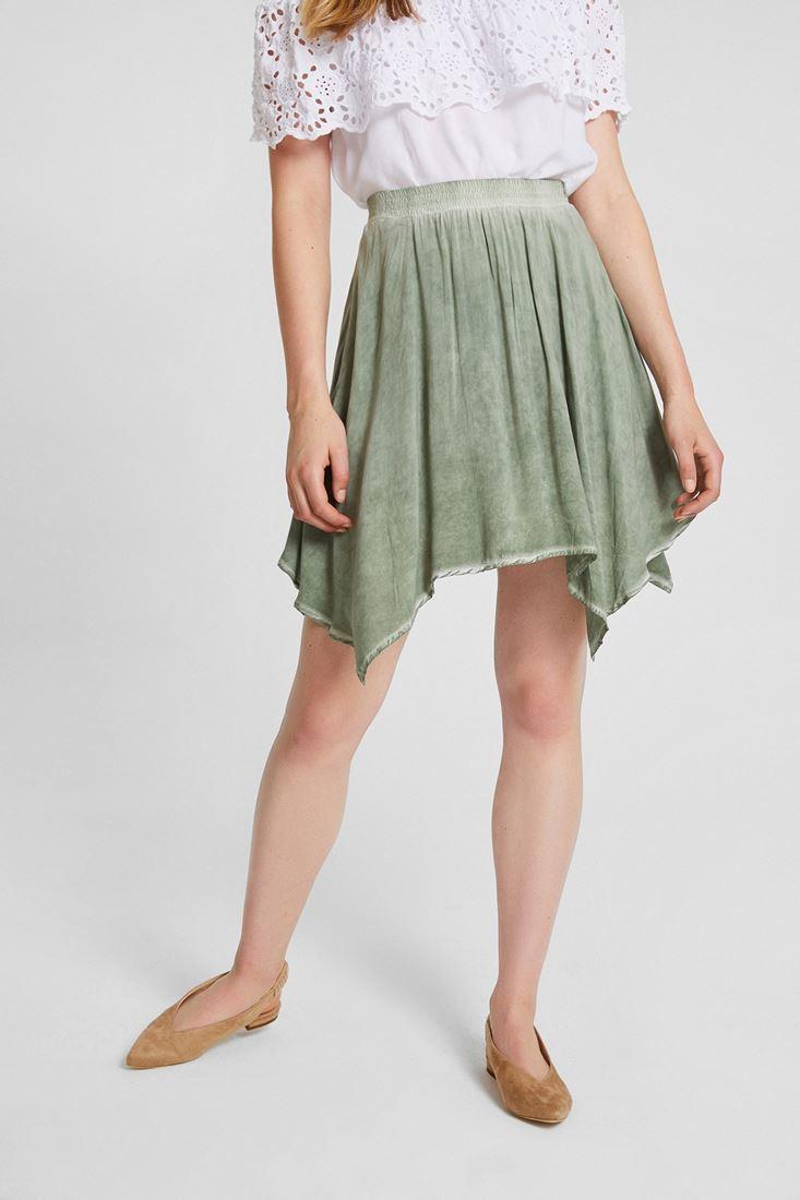 Green Asimetric Skirt