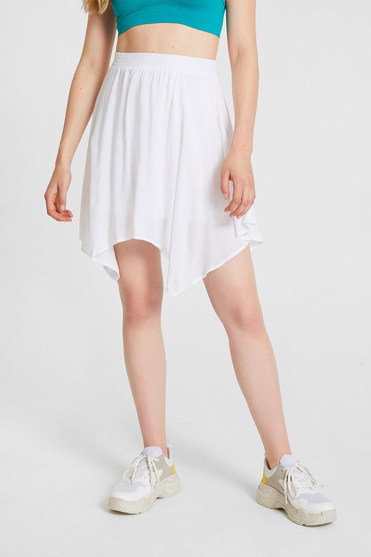 White Asimetric Skirt