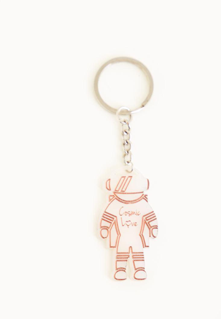 Bayan Çok Renkli Astronot Anahtarlık
