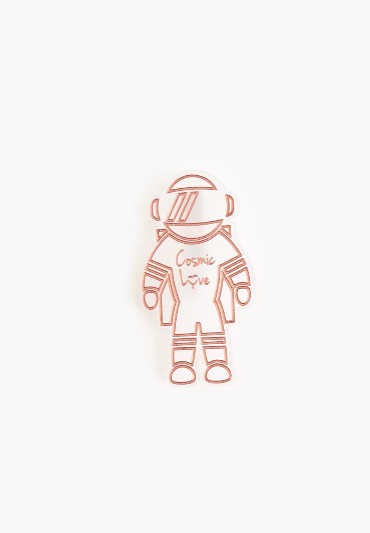 Bayan Çok Renkli Astronot Rozet