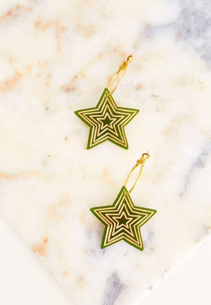 Mixed Star Earrings