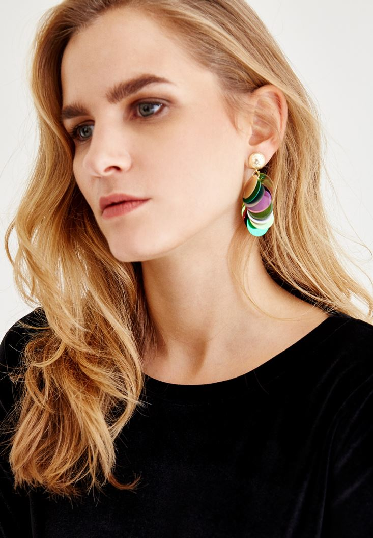 Mixed Earrings With Detailed