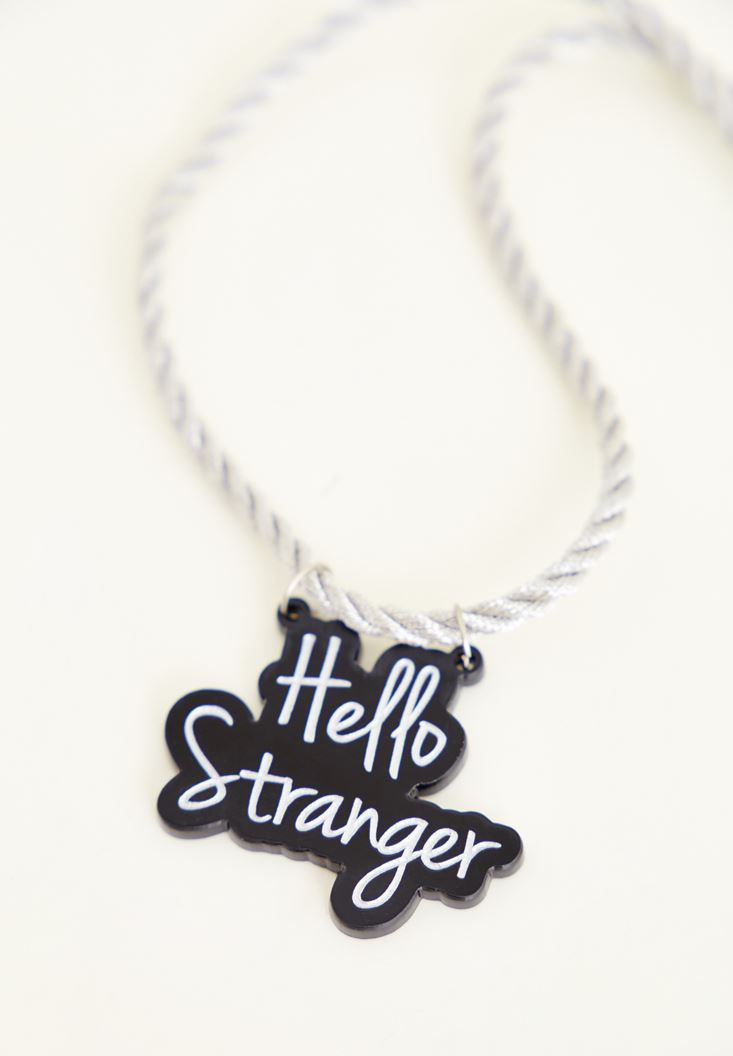 Mixed Necklace With Slogan