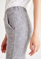 Bayan Çok Renkli Dar Paça Balık Sırt Desenli Pantolon