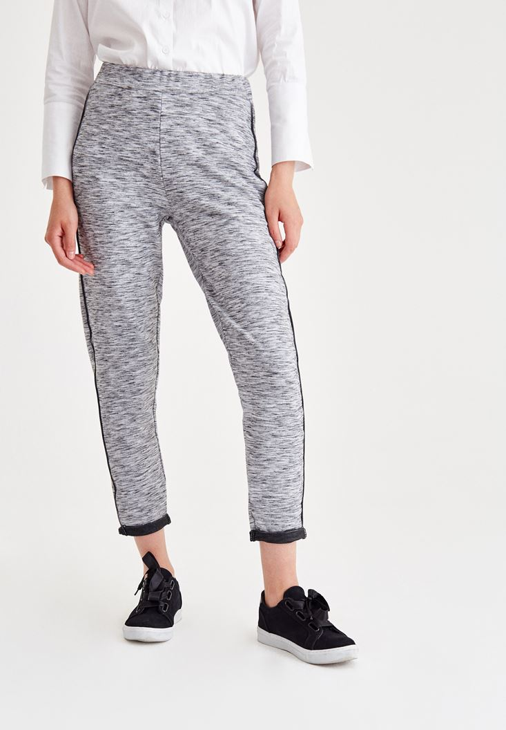 Grey Pants With Line Details