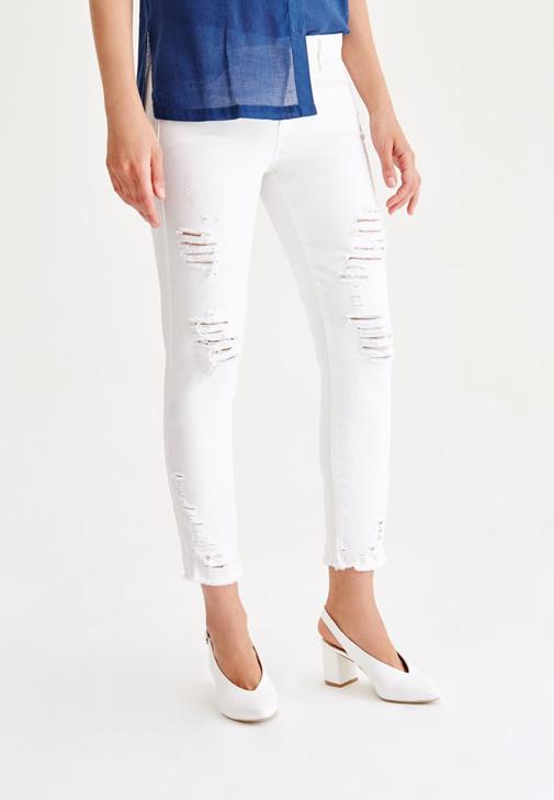Slim Boyfriend Denim Pantolon