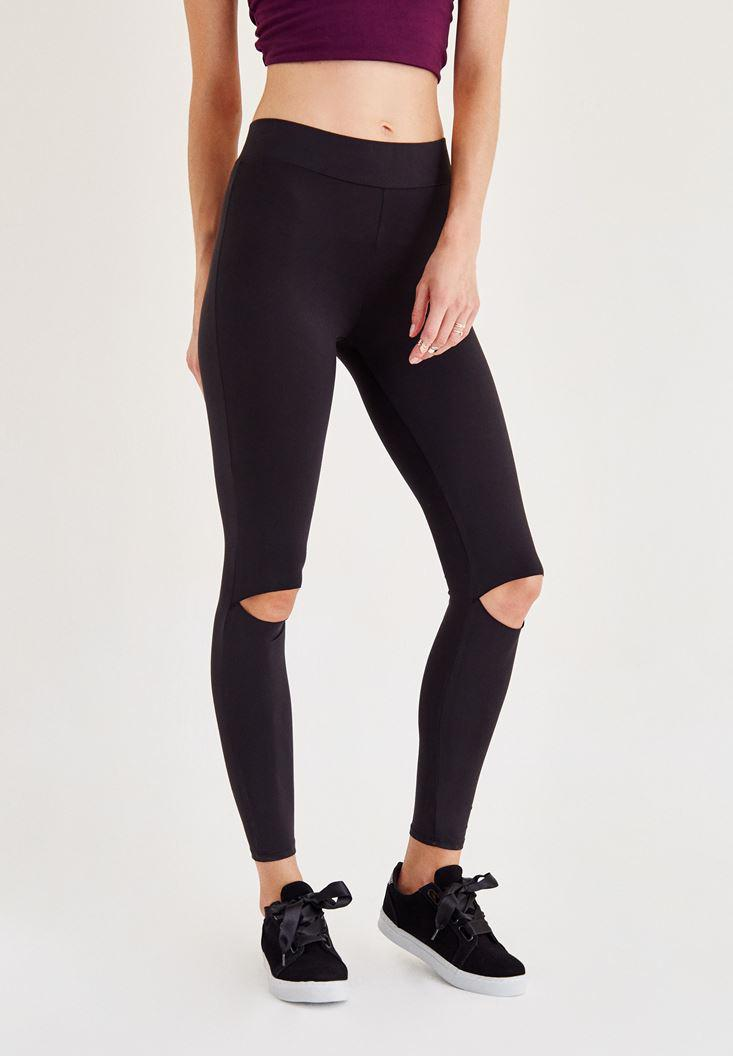 Women Black Ripped Tights