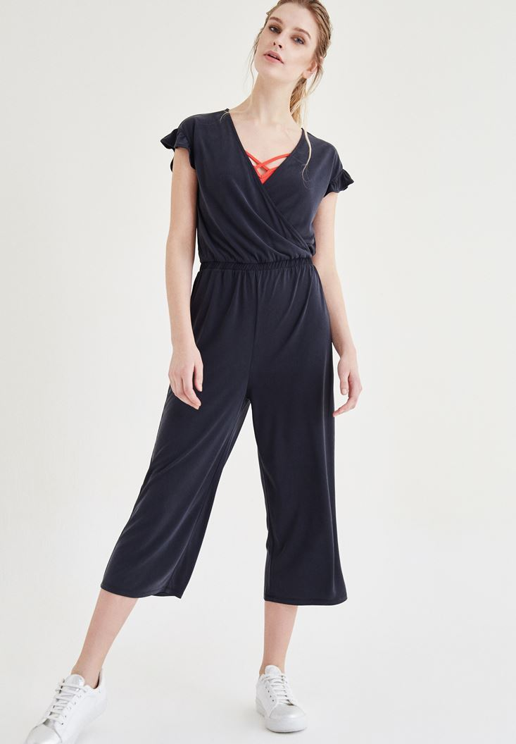 Black Arm Detailed Overalls