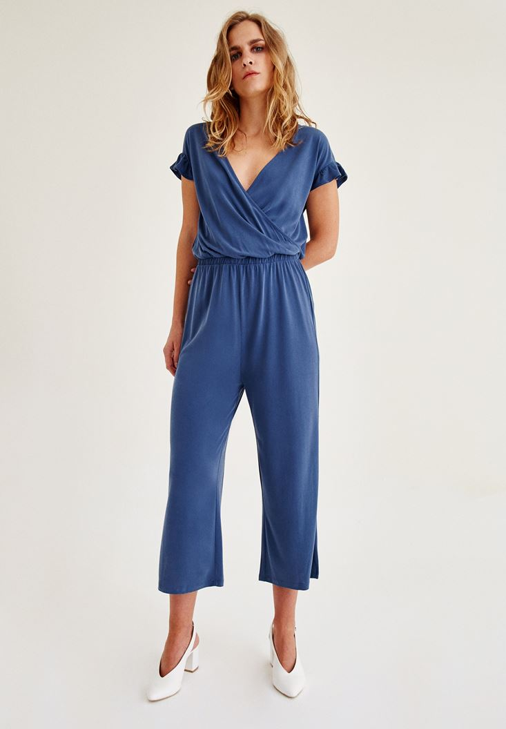 Blue Arm Detailed Overalls