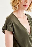 Women Green Arm Detailed Overalls