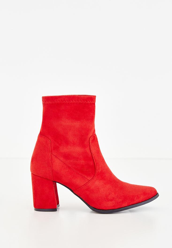 Bayan Kırmızı Topuklu Bilek Bot
