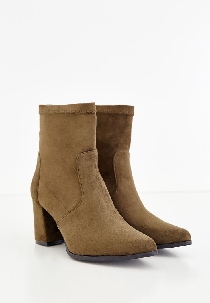 Green High Heel Ankle Boots