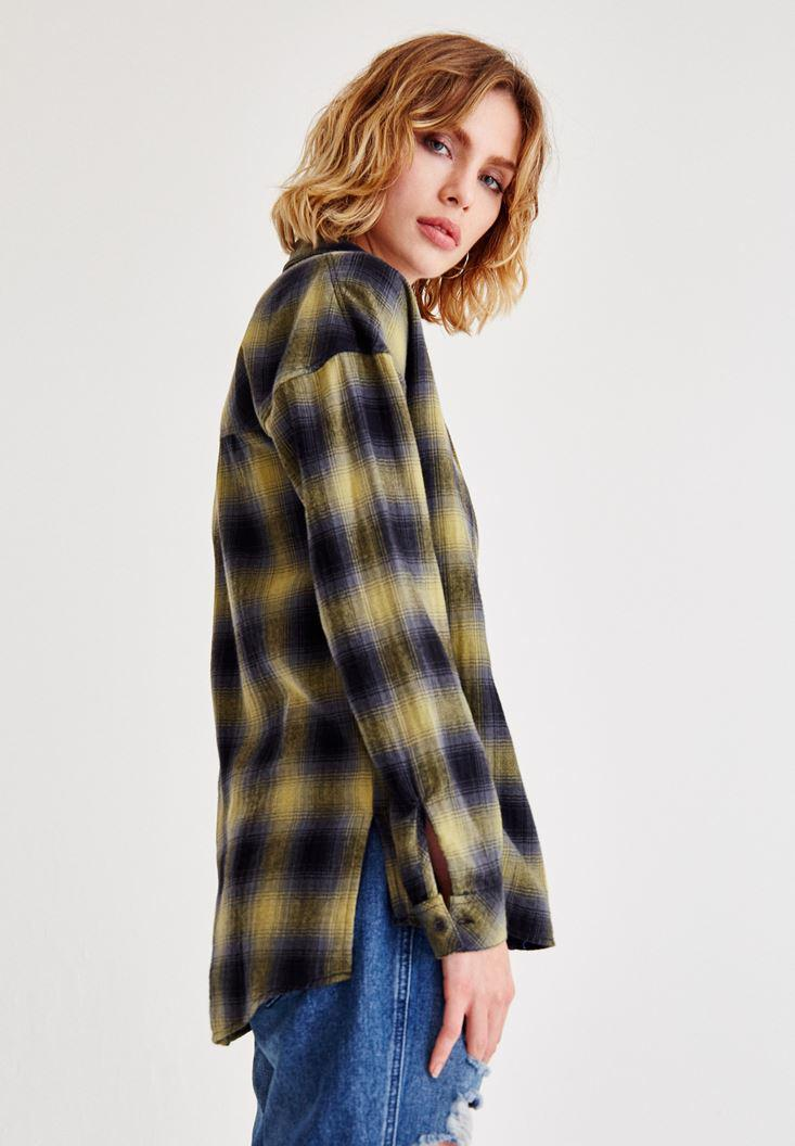 Women Mixed Shirts With Check Pattern