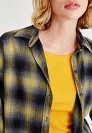 Bayan Çok Renkli Ekose Desenli Bol Gömlek