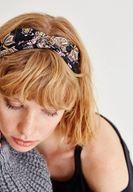 Bayan Çok Renkli Çiçek Desenli Lastikli Saç Bandı