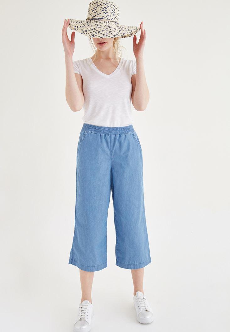 Beli Lastik Detaylı Kısa Pantolon OXXO