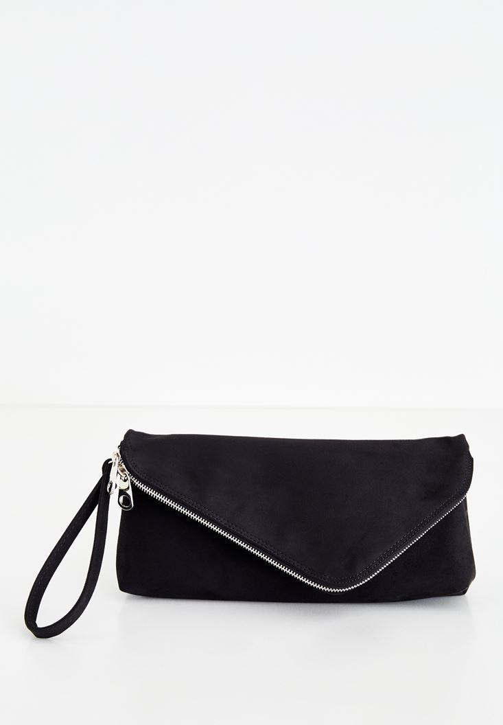 Siyah Zarf Kesim Detaylı Çanta