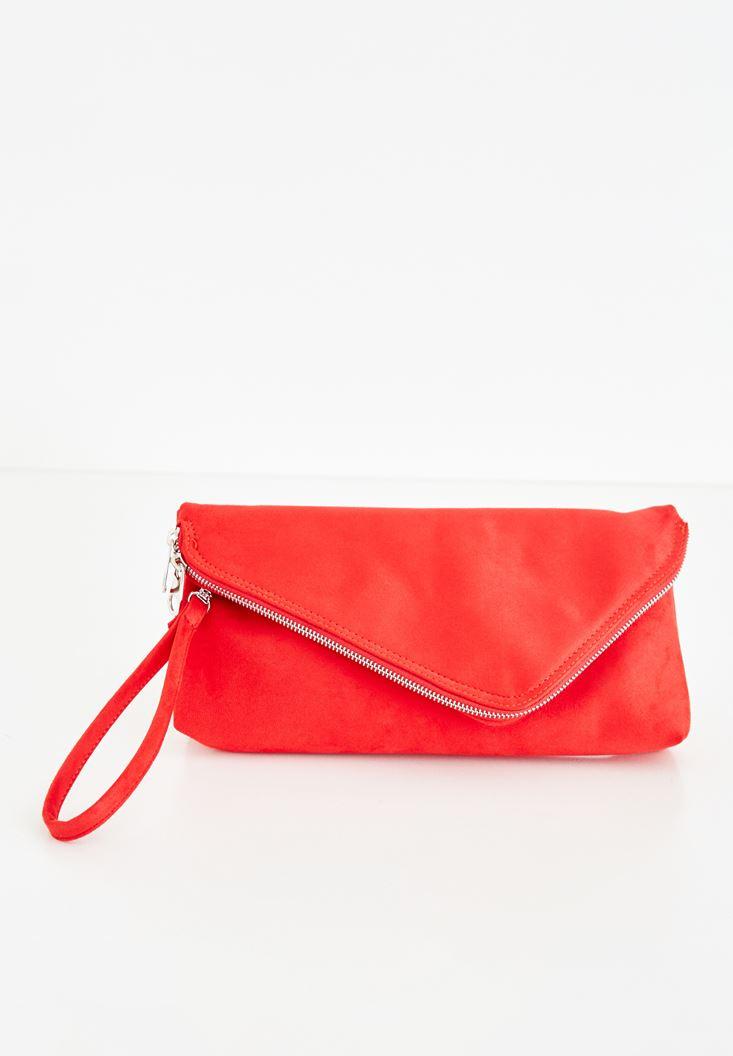 Kırmızı Zarf Kesim Detaylı Çanta