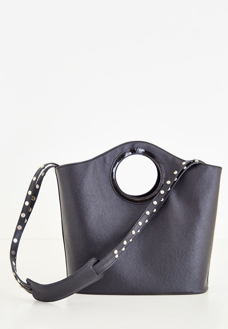 Black Bag With Metallic Detailed