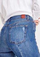 Bayan Mavi Yüksel Bel Kalem Paça Slim Denim Pantolon
