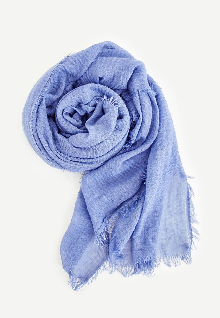 Blue Scarf With Detailed