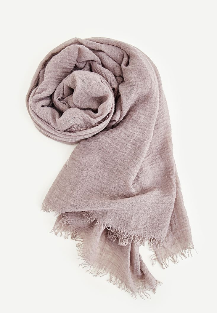 Cream Scarf With Detailed