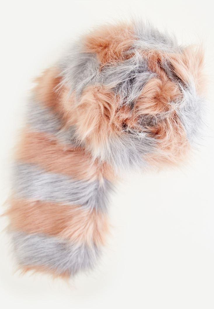 Mixed Fake Fur Shawl