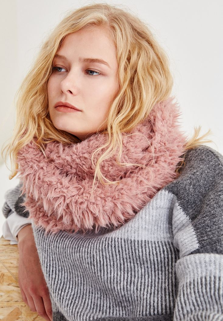 Bordeaux Furry Scarf